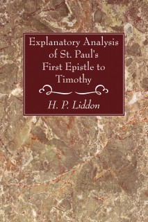 Explanatory Analysis of St. Paul's First Epistle to Timothy